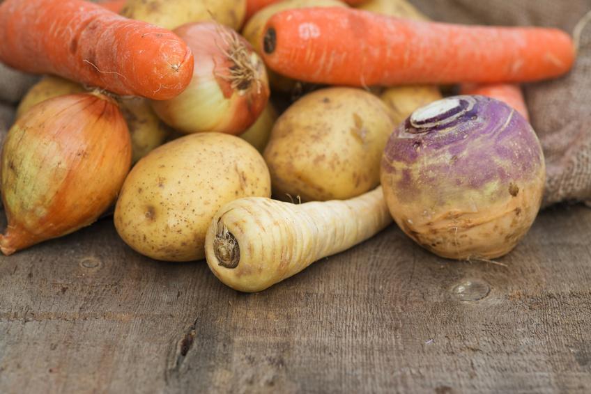 Carottes, pommes de terre, navets