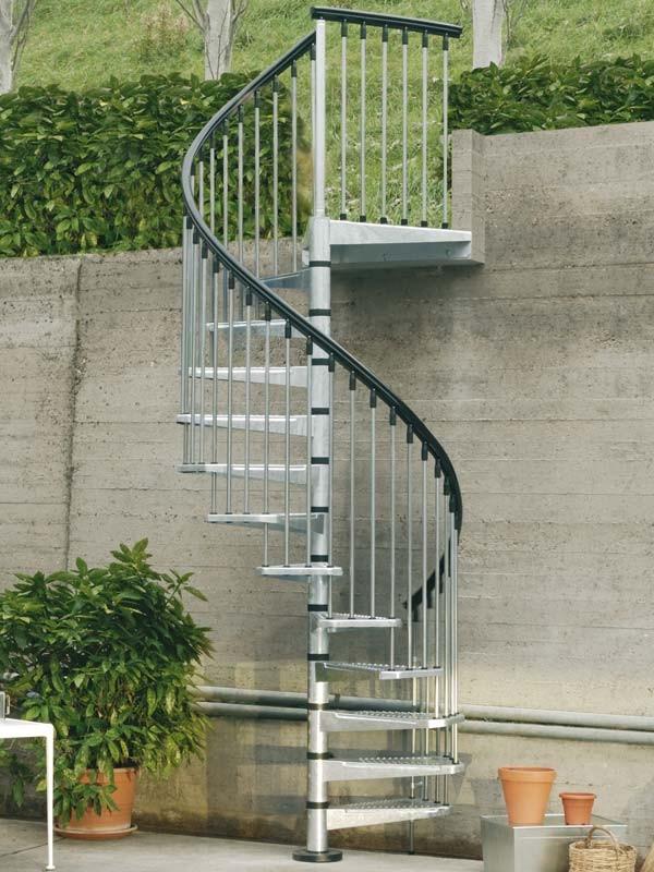 Un escalier en colimaçon d\'extérieur pour son jardin