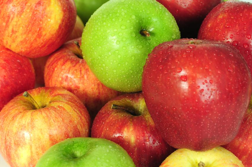 Pommes de différentes variétés