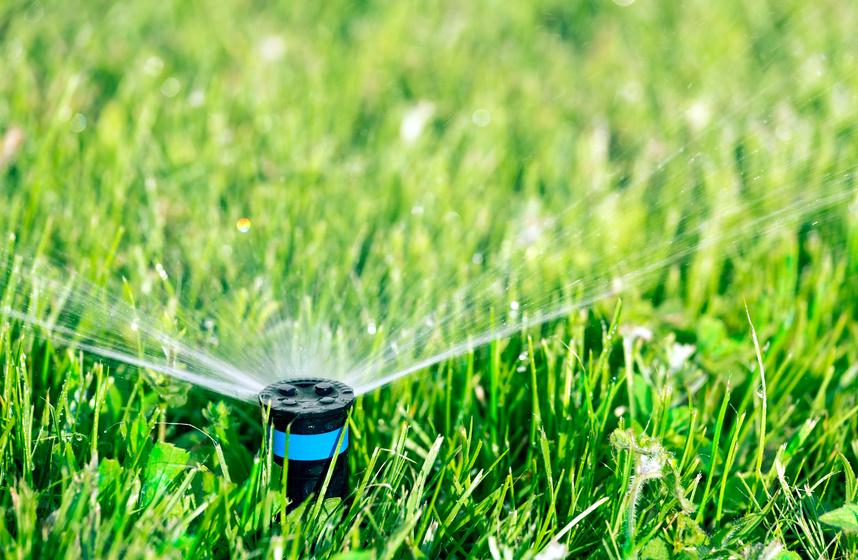 Système d'arrosage automatique d'une pelouse